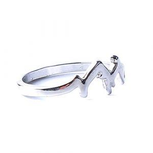 Beiswin Unisexe en forme d'anneaux anneaux créatifs géométrie forme bagues en argent pour femmes accessoires de bijoux (Size 9) (Chil_Store, neuf)