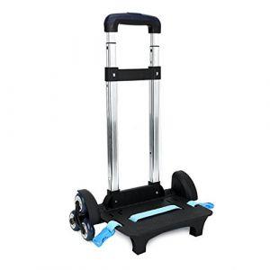 Chariot, Trolley pour Sac à Dos Chariot à roulettes Alliage d'aluminium Chariot Pliable pour Enfant(Bleu, 6 Roues) (IvyH, neuf)