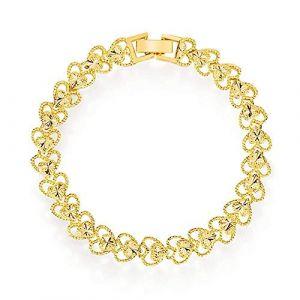 Bracelet Creative Bracelet plaqué or for femme avec coeur de pêche Bracelet avec chaîne en forme de montre d'amour (cbhdsrg, neuf)