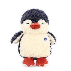 Peluche dessin animé mignon pingouin petite amie poupée décoration enfants cadeau d'anniversaire-bleu marin_35 cm (lizhaowei531045832, neuf)