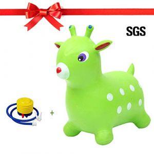 PROKTH Cheval gonflable - Animaux sauteur - Ballon sauteur - Jeux exterieur pour enfant et bebe à la maternelle et à la maison (Zhuoshilang®, neuf)