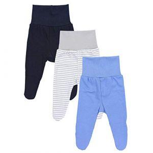 TupTam Pantalon avec Pied pour bébé garçon Lot de 3, Mix de Couleurs 1, 9-12 Mois (80cm) (LotteStyle, neuf)