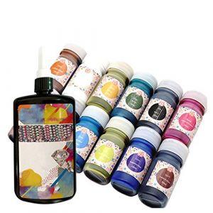 Ensemble de colle fine multicolore à la main transparente transparente insipide Handmade DIY Soft Transparent Tasteless Glue Multicolor Fine Glue Set Serria (Serria, neuf)