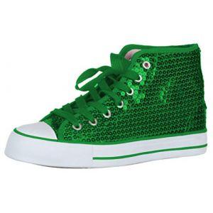 Brandsseller Baskets à paillettes pour enfant - Vert - vert, 35 EU (brandsseller, neuf)