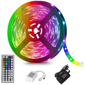 Guirlande Lumineuse Exterieur avec 25 G40 Ampoule Blanc Chaud avec 3 de Rechange, 7.62 Mètres Câble, Décoration Intérieur et Extérieur, Halloween, Noël, Mariage (EverCode, neuf)