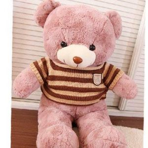 Rose Teddy Bear Holds A Bear Doll, Plusteddy Teddy Bear Doll, Rag Doll, Birthday Present Ours Brun 80 Cm (lizhaowei531045832, neuf)