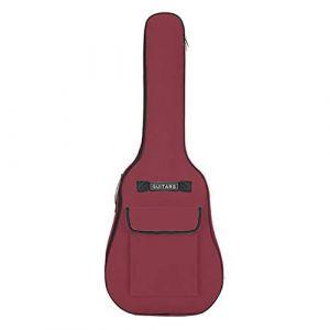 40 à 41 Pouces Sac de Guitare Universel Sac de Guitare en Tissu Oxford Epais 600D Sac à Dos de Guitare à une Double Epaule Guitare Etanche Sac de Ukulélé Sac de Guitare avec Coussin Antidérapant (PennyUK, neuf)