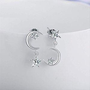 Épingle d'oreille Anti-allergie Boucle d'oreille en diamant Micro-incrusté Boucle d'oreille en pierre gemme pour femme (Graceguoer, neuf)