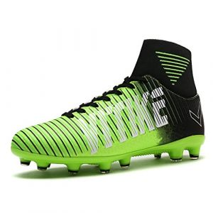 VITIKE Chaussures de Football pour Enfants/Hommes Chaussures de Soccer Soccer pour Les Jeunes Bottes à la Cheville Chaussures de Formation de Football(EU39-Vert) (BOSEN Authorized Store, neuf)