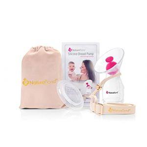 Tire-lait manuel en silicone pour allaitement coquille pompe d'allaitement / Sangle pour pompe tout-en-un (NatureBond Europe, neuf)
