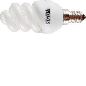 Silver Electronics Mini Full ampoules économie d'énergie, 4200K, e14, 9W, blanc