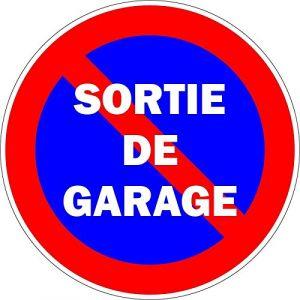 Autocollant sticker portail parking sortie garage stationnement interdit panneau (auto-plaque, neuf)