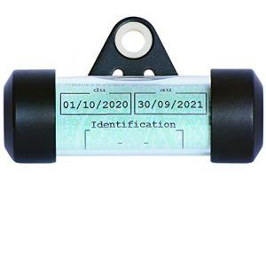 Ugozen Porte Vignette Assurance Moto Tube, Accessoire Scooter/Moto Support De Vignette Assurance Etanche Noir 50x30 mm d'affichage pour Moto/Scooter/Quad (JB PROD, neuf)