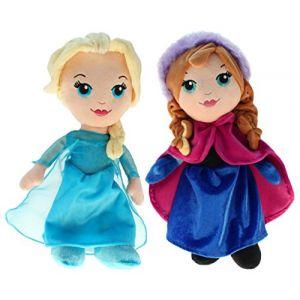 Disney 201790–Peluche Frozen–Elsa & Anna, 30cm (DL-Commerce, neuf)