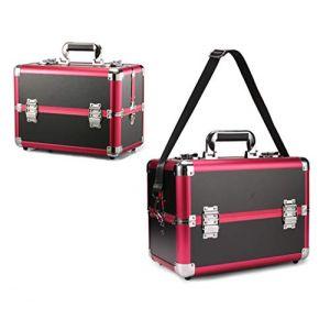 Mallette cosmétique en aluminium multifonctionnelle de valise professionnelle grande valise professionnelle,Black2 (Wzq-UK, neuf)