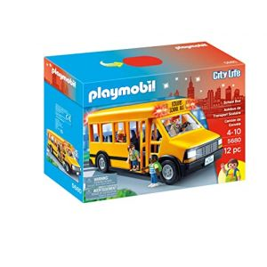 PLAYMOBIL 5680 BUS SCOLAIRE JAUNE école (Josef Dylan, neuf)