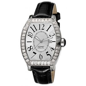 Esprit Collection - EL101262F02 - Montre Femme - Quartz Analogique - Aiguilles Lumineuses - Bracelet Cuir Noir (Creativ-Vertrieb GmbH, neuf)