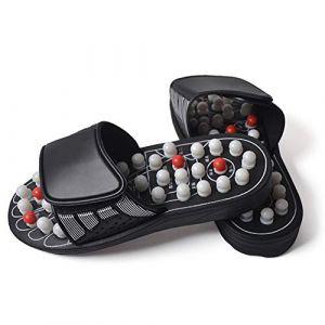 Pantoufles de massage, coussins de massage des pieds, pantoufles de santé pour hommes et femmes, outils de massage des pieds (1 paire),40 (wei tang 168, neuf)