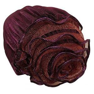 Chapeau musulman Hijab Foulard Foulard fleur musulman pour Chemo [rouge] (24station EURO, neuf)