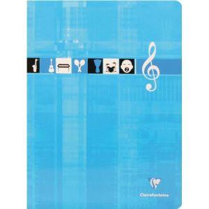 Clairefontaine - Cahier de musique et chant, papier brillant et reliure agrafée - 24x 32, 48pages - 90g (Stock Bureau Direct, neuf)