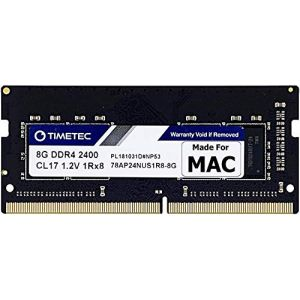 Timetec Hynix IC compatible with Apple 16GB DDR4 2400MHz PC4-19200 SODIMM Memory Upgrade For iMac Retina 4k/5K 21.5-inch/27-inch Mid 2017 8GB(Single Rank) (Timetec Inc Europe, neuf)
