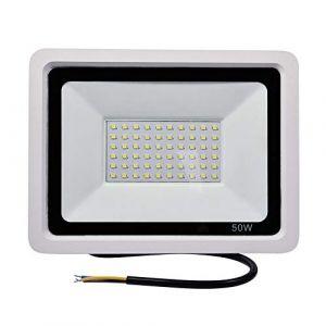50W Projecteur LED Extérieur, Yuanline IP67 Imperméable Ultra-Mince Eclairage Extérieur LED pour Jardin, Garage, Patio, Stade, Usine, Entrepôt (Blanc Froid) [Classe énergétique A+] (Yuanline, neuf)