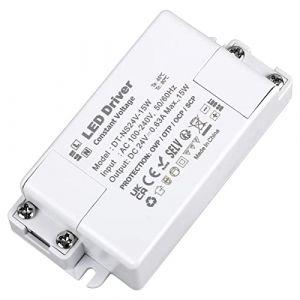 VARICART Alimentation LED IP44 24V 0.625A 15W, Alimentation à commutation régulé CC AC universelle, adaptateur transformateur de tension constante pour bande lumineuse G4 MR11 MR16 GU5.3 (pack de 1) (VARICART, neuf)