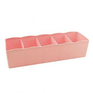 5 cellules en plastique organisateur boîte de rangement cravate soutien-gorge chaussettes tiroir séparateur cosmétique PK maison et jardin ménage et organisateurs (FOOD HINK, neuf)