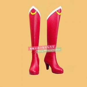 TCYLZ Japonais Anime marin lune bottes rouges Sailormoon Tsukino UsagiCosplay chaussures bande dessinée Costume bottes grande taille 36 sailor moon (zhanghongjia0715., neuf)