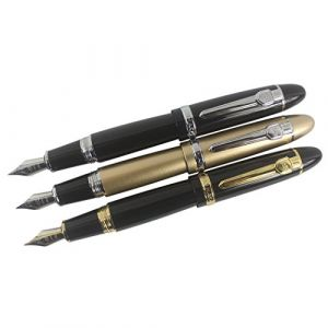 Zoohot Jinhao 159 Stylo plume Gros stylo gros 3 pièces en 3 couleurs (zohot, neuf)