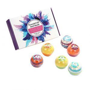 KiKa Monkey 6 Pcs Bombe De Bain Aux Huiles Essentielles Relaxantes Coffret Cadeau De Bain & Kit Coffret Cadeau Spa Sels De Bain Additifs De Bain (Set 3) (Bunny_Deco_Art, neuf)