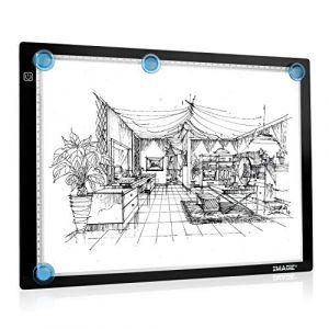 Tablette Lumineuse A3 Magnétique avec Luminosité LED Réglable Précise, Contrôle Tactile avec Fonction Mémoire, Ultra-mince seulement 0,7 cm d'épaisseur, Adaptateur secteur européen fourni (Mambate Global, neuf)