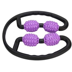 Rouleau de bâton de yoga, bâton de massage de rouleau de relaxation musculaire, bras de maison de gymnastique pour les jambes (Jadpes, neuf)