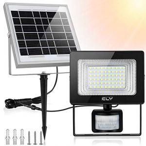 Projecteur LED Solaire Avec Détecteur, CLY Projecteur Solaire à led Détecteur, 6500K, 60 LED Lampe Solaire exterieur Avec Détecteur de Mouvement, Spot Solaire Exterieur (CLY- tools EU, neuf)
