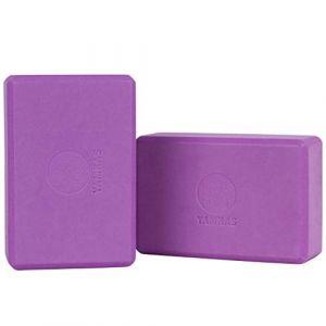 Yamkas Brique Yoga | Bloc de Yoga en Mousse EVA de Haute Densité | Yoga Block - Cube pour Pilates | Violet (Mercurius Company B.V., neuf)