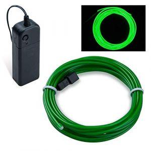 Guirlande Lumineuse LED, COVVY Neon Flexible Lumineux Décoration à piles pour Fête/Noël/Anniversaire/Soirée/Mariage, 3 Modes Éclairage avec télécommande, Imperméable Pour Intérieur (Vert émeraude, 5M) (BLUEMANGO, neuf)