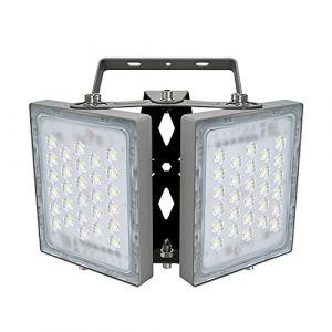Projecteur LED 100W, IP65 Imperméable, 9000LM, Eclairage Extérieur LED, Equivalent à Ampoule Halogène 600W, 5000K Lumière Blanche du Jour, Projecteur réglable pour entrées, cour et garage (Langx lights, neuf)