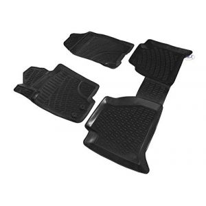 J&J AUTOMOTIVE | Tapis DE Sol en Caoutchouc 3D Exclusive Compatible avec Nissan NAVARA D40 2005-2013 (J&J AUTOMOTIVE, neuf)