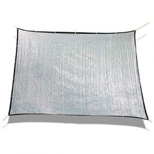 Laxllent Toile d'ombrage Serre Rectanglulaire,3x6m, Toile d'ombrage Pergola,Aluminet Bâche Anti UV 70% pour Voiture & Animaux,Argenté (Sun Twinkle, neuf)