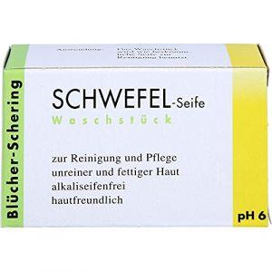 Schwefel Seife Savon au soufre 100g (apohealth - votre pharmacie allemande certifiée, neuf)
