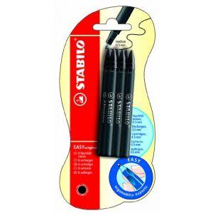 Stabilo Easy Original Blister de 6 Recharges en encre noire effaçable 0,5 mm (MA PAPETERIE, neuf)