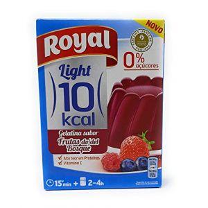Royal, Gélatine Goût Fruits Rouges, Gélatine Light, Paquet de 31 gr, 10 Kcal (DSG Bio Shop, neuf)