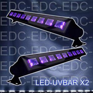 Ibiza PACK 2 LED-UVBAR Barre de lumière UV DJ LIGHT SONO LUMIÈRE LED (Starmix, neuf)