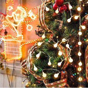 Ibello Guirlande Lumineuse Boule Sapin Noël Guirlande Guinguette à Pile Décoration Chambre 50LEDs 5,2M pour Anniversaire Mariages Halloween (XiheRicco, neuf)