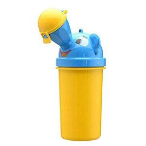 Jessie Urinoir pour enfant portable de propreté de dessin animé Toilettes d'urgence pour camping, voiture, voyage (garçons et filles) (Jaune - garçon) (JEssie, neuf)