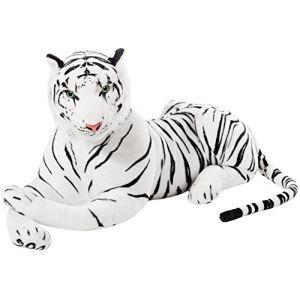 BRUBAKER - Peluche géante blanc Tigre - 110 cm (BRUBAKER (Der Schnellversender!), neuf)