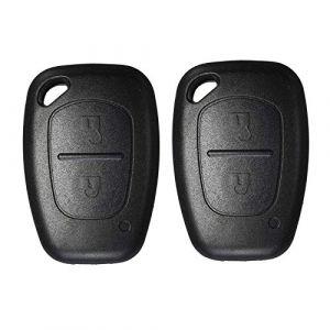 Coque pour clé télécommande sans clé avec 2 Boutons Heart Horse Compatible avec Opel Movano Vivaro Renault Traffic Kangoo Nissan Primastar (sans Lame) 2 pcs Without Blade (TripleWaterTripleGood, neuf)