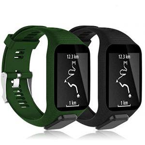 YASPARK Bracelet Tomtom Adventurer Montre, Bracelet De Rechange en Silicone Bande pour Tomtom Runner 2/Runner 3/Spark 3/Aventurier/Golfeur 3/Golfeur 2 Sports GPS Running (BEIYING, neuf)
