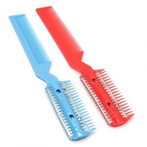 2x Rasoir Peigne Coupe à Cheveux Effileur Avec Lame Tondeuse Coiffure Poils (highqualityforyou(in Hong Kong), neuf)