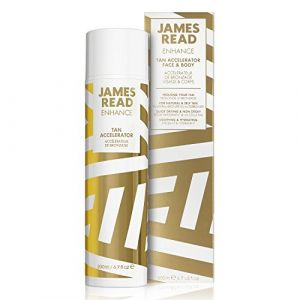 JAMES READ Accélérateur de bronzage pour le visage et pour le corps 200 ml Amplificateur de bronzage, Intensifie et prolonge le bronzage naturel ou faux, Facile à appliquer, Lotion légère, Formule de soin enrichie, Convient à tous les types de peau (Just